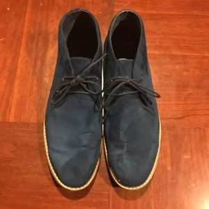 Other - Men's Navy Blue Suede Shoes. Size 13